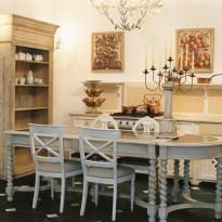 Table URSULINE Longueur 180 cm / 3 Plateaux de Zinc / Largeur 90 / hauteur 80
