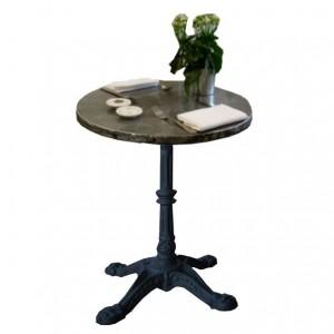 """Table ABSINTHE Dia 60 *H76 / Plat zinc rembordé / piètement Fonte type """"Bistrot"""""""