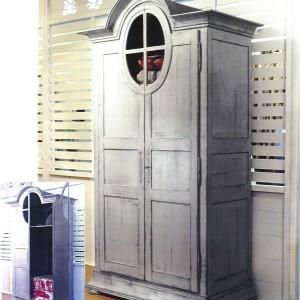 armoire grenier version penderie avec 3 tiroirs d cor s 142 60 240 provence et fils. Black Bedroom Furniture Sets. Home Design Ideas