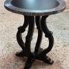 Table d'appoint  DIANE RONDE Diamètre 60 -Plateau bois rembordé en zinc