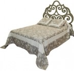 Tête Lit ARABESQUE couch 140 - DéCoupé sur Bois
