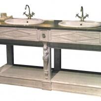 Elément BAS SEUL de Salle de Bains THERMES / Vasques incluses / Livré Sans Robinetterie