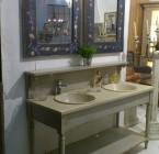 Salle de Bains DRAPIERE 160*60*108 / 2 Vasques céramique incluses /Livré Sans Robinetterie