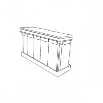 Elément Bar MARIUS 'DROIT' / Module Forme Droite L180 x 60 x H 120