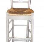 Chaise CANTINA - Haute - Assise Paillée (pour Table ou Bar de Hauteur 110 à  120)