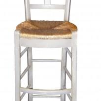 Chaise CANTINA – Haute – Assise Paillée (pour Table ou Bar de Hauteur 110 à  120)