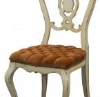 Chaise CAMEE - Esprit Vénitien - Dossier à palmette ajourée -Assise rembourée