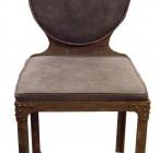Chaise NAUTILUS / Structure Métal avec Rivets / Assise Assise Cuir - Peau tannée & veillie
