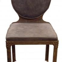 Chaise NAUTILUS / Structure Métal avec Rivets / Assise Assise Cuir – Peau tannée & veillie