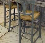 Chaise CANTINA - Haute - Assise Paillée pour Table de H 90cm