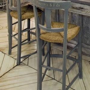 Chaise CANTINA – Haute – Assise Paillée pour Table de H 90 cm