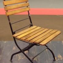 Chaise TIVOLI PLIANTE- Chaise Métal avec Assise et dossier en Lattes de bois