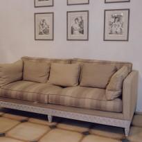 Canapé DEAUVILLE 2P / Base Claustra – Tissu A – 13 5 mètres