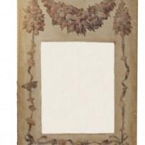 Trumeau 'COQUILLAGES' toile BEIGE Motif Coquillages / Miroir à l'ancienne