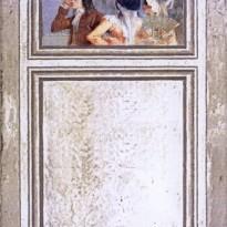 Trumeau SCENE DE VIE toile de lin – motif floraux TOILE Grise