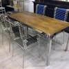 Table GARNIER Bordure Nickelée180 CM