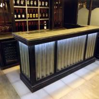Bar INDUSTRIE galvanisé 250 *70 h115 – avec eclairage Leds inclus