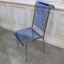 Chaise SANDOW Chaise nickelée avec assise et dossier en sandows