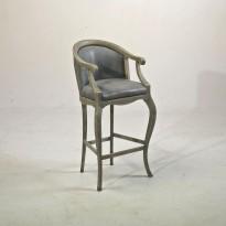 Chaise Haute TSARINE avec Accoudoirs (pour Table Haute) / H 110cm /Assise H 70cm