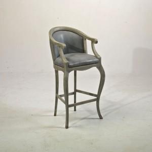 Chaise haute tsarine avec accoudoirs pour table haute h 110cm assise h 70cm provence et fils - Chaise haute pour table bar ...