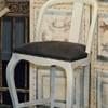Tabouret TSARINE- (pour Table Haute) H 110cm avec Dosseret Ajouré / Assise Tissu