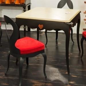 Table à jeux CASINO – Plateau Coulissant et porte-verres