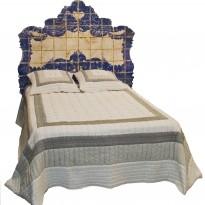 Tête de Lit AZULEJOS/ Couchage 140 / motifs imitation Azulejos