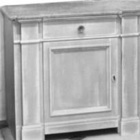 Elément BAS ENGHIEN / 1 porte+ 1 tiroir avec 1 étagère /avec Plan en Marbre -Sans crédence