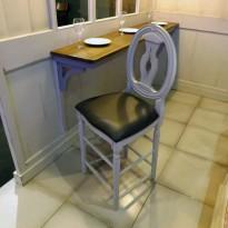 Chaise Haute COTTON  Palmette / Assise rembourée.