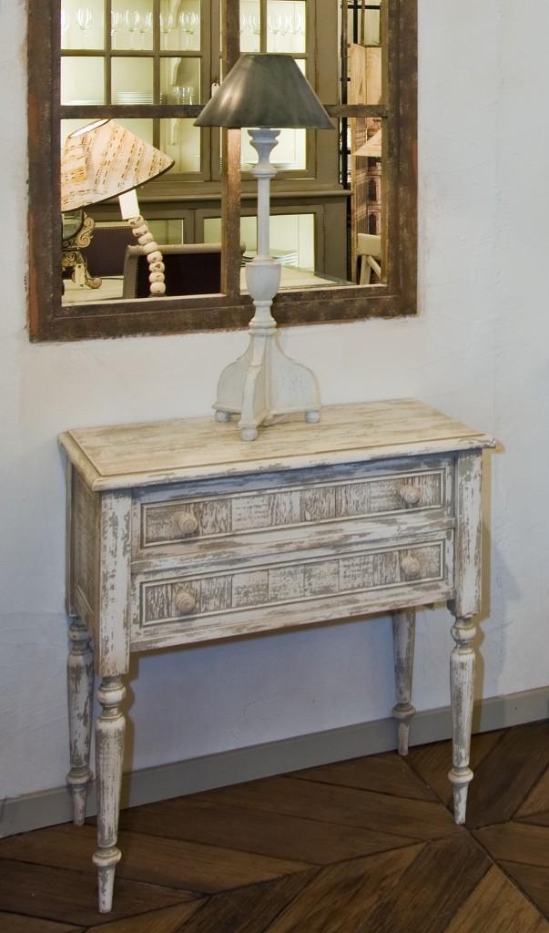 commode passementerie 2 tiroirs provence et fils. Black Bedroom Furniture Sets. Home Design Ideas