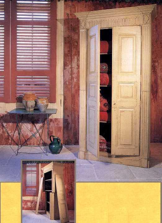 armoire francomtoise portes pleines etag res