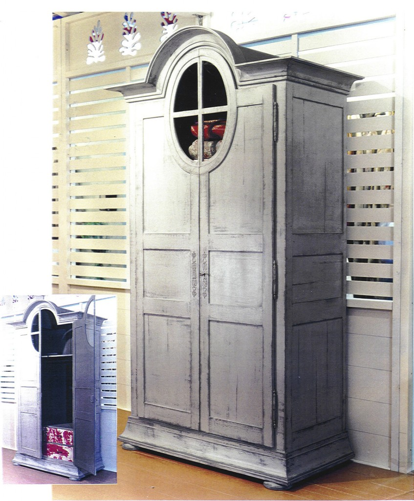 armoire grenier version penderie avec 3 tiroirs d cor s. Black Bedroom Furniture Sets. Home Design Ideas