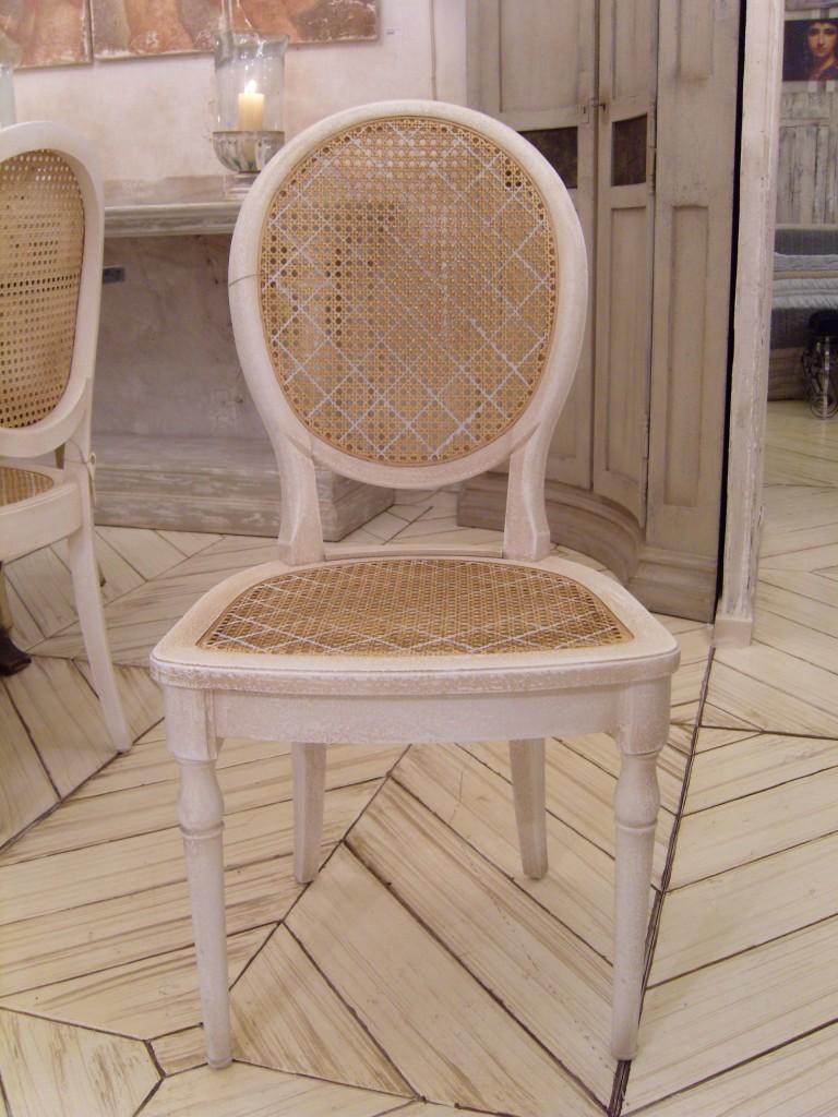 Finest Cannage De Chaise Avec Antoinette Assise Et Dossier Provence Fils With