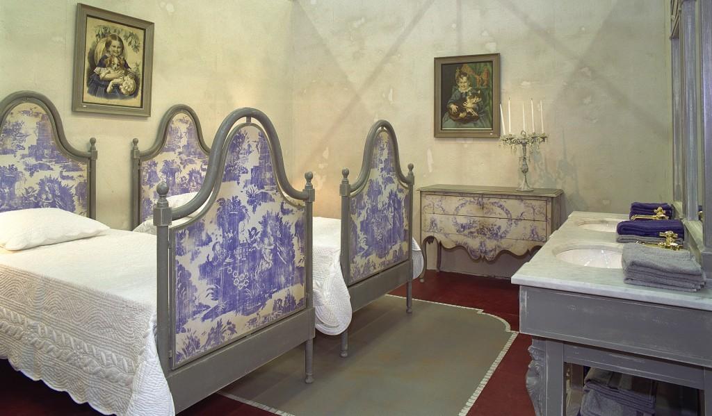 lit toscan couchage 90 d cor effet toile de nantes. Black Bedroom Furniture Sets. Home Design Ideas