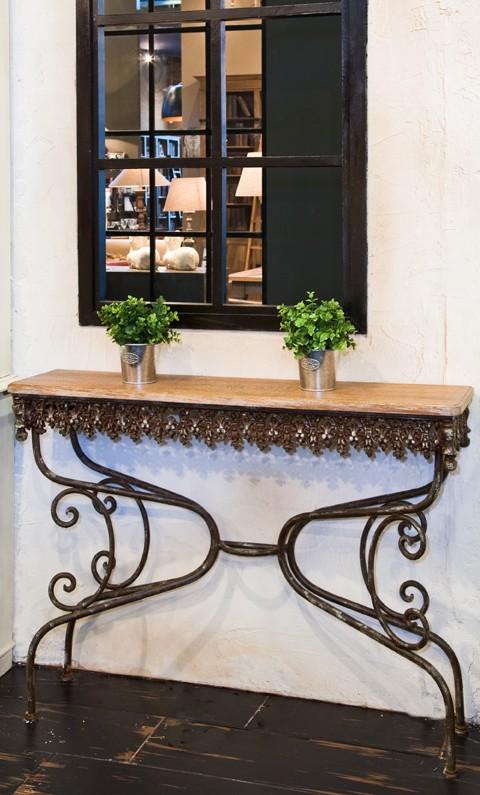 console andalouse plateau ch ne d fibr et pi tement. Black Bedroom Furniture Sets. Home Design Ideas