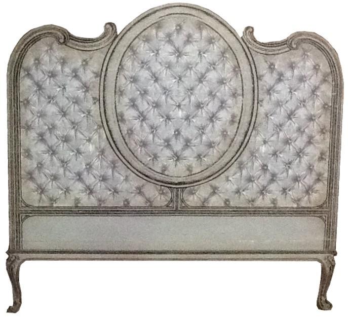 t te lit capitons couchage 160 dim 180 motifs imitation. Black Bedroom Furniture Sets. Home Design Ideas