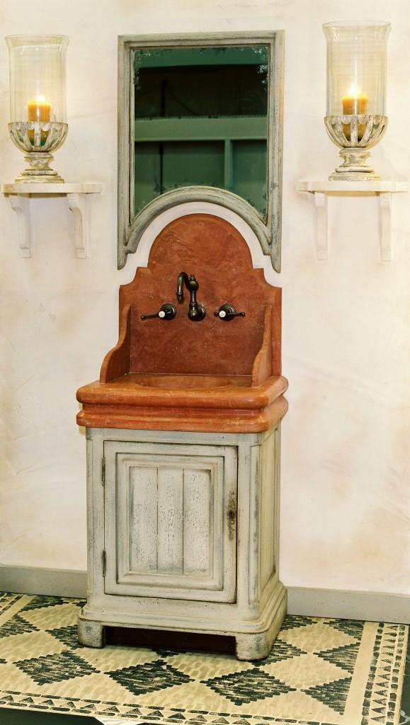 lave mains chenonceaux vasque et fronton marbre miroir vieilli livr sans robinetterie. Black Bedroom Furniture Sets. Home Design Ideas
