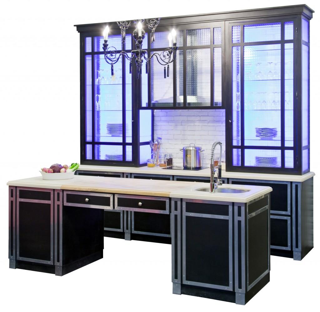 cuisine beauvilliers bord e d acier nickel plateau. Black Bedroom Furniture Sets. Home Design Ideas