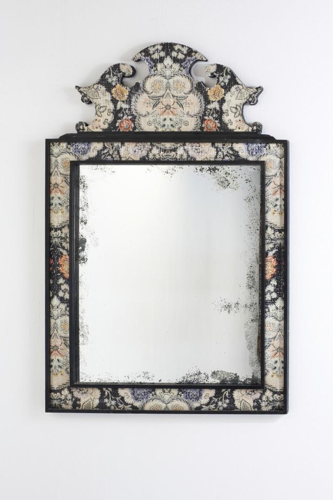 Miroir montesquieu structure d cor e de motifs floraux for Fond miroir