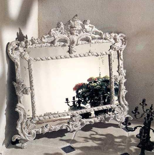 miroir angelots provence et fils. Black Bedroom Furniture Sets. Home Design Ideas