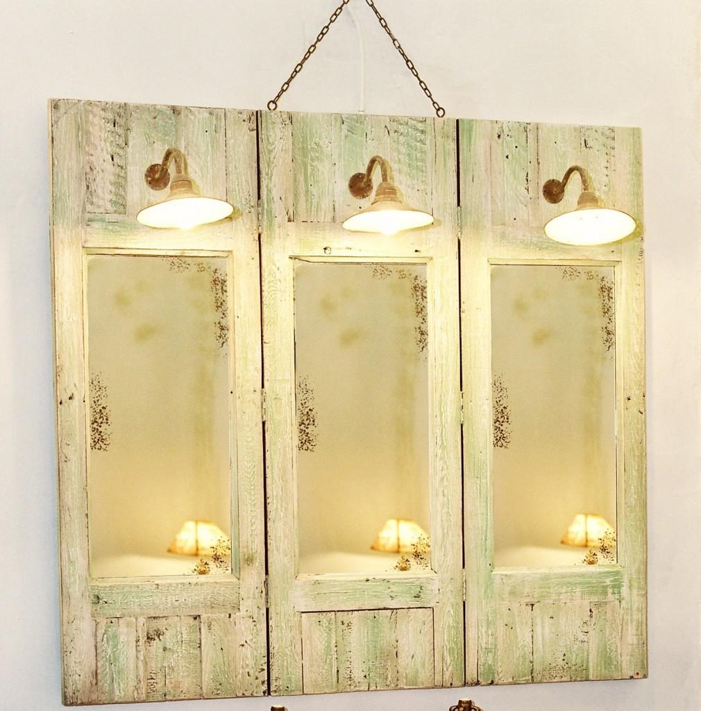 miroir gustavien triptyque vieilles planches. Black Bedroom Furniture Sets. Home Design Ideas