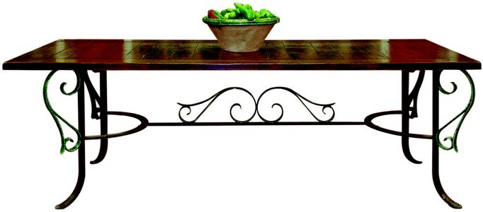 table marly plateau h tre massif cir pi tement fer forg avec arabesques provence et fils. Black Bedroom Furniture Sets. Home Design Ideas