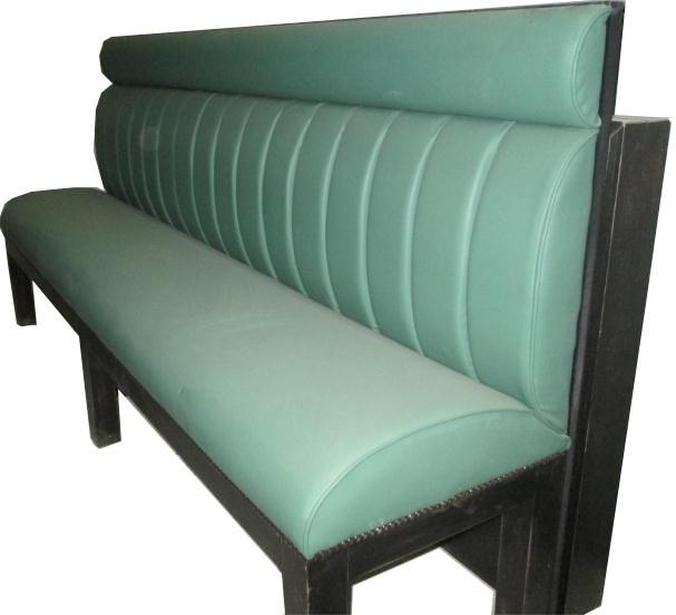 banquette recto en moleskine piqu e assise et dossier longueur 200 sans bloc arriere. Black Bedroom Furniture Sets. Home Design Ideas